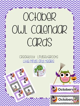 October Owl Calendar Cards and Headers