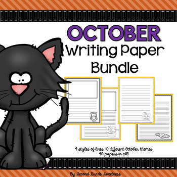 October Writing Paper Bundle