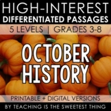 October Passages: History - Distance Learning Compatible