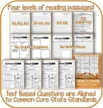 October Passages w/ CCSS Text Based Questions Close Reading Weekly Homework
