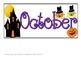 October Pattern Calendar- ABC Pattern