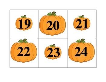 October Pattern Calender Pieces