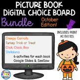 October Picture Book Digital Choice Board - BUNDLE | Googl
