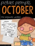 October Picture Writing Prompts for Beginning Writers