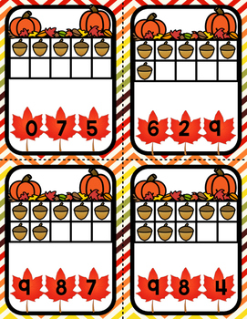 October Play-Dough Number Mats