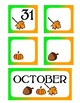 October Pocket Calendar Cards