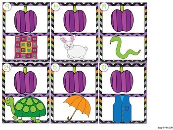 Pocket Chart Activities & Printables October