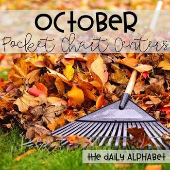 Pocket Chart Activities & Printables October