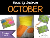 October Mixed up Sentences - Reading, Writing, and Sentenc