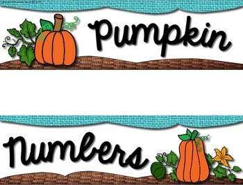 October Pocket Charts --- Four Math and Literacy Pocket Charts for October