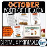 October Poem and Book Set