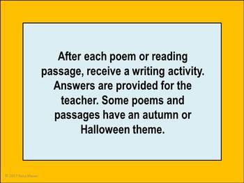October Poems and More Literacy Activities