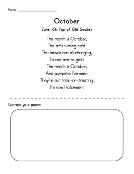 October Poetry Pack - Simple and Direct