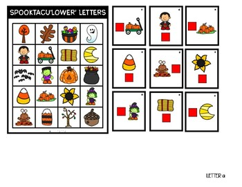 October Positional Words: Uppercase Letters