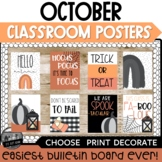 October Posters Bulletin Board ll Halloween Posters Modern
