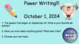 October Power Writing Prompts on SmartNotebook