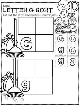 October Preschool Packet