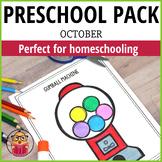 October Preschool Packet - Distant Learning