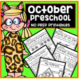 October Halloween Fall Preschool Printable Packet NO PREP - All Subjects