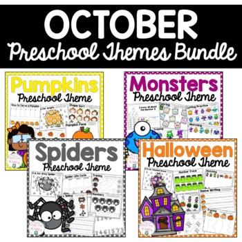 October Preschool Themes Bundle by Little Owl Academy   TpT