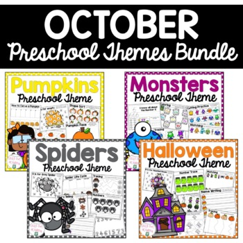 October Preschool Themes Packet