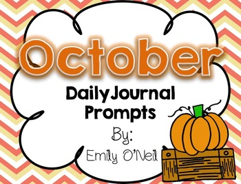 October Primary Daily Journal Prompts