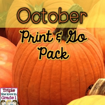 October Print & Go Pack - ELA & Math Printables