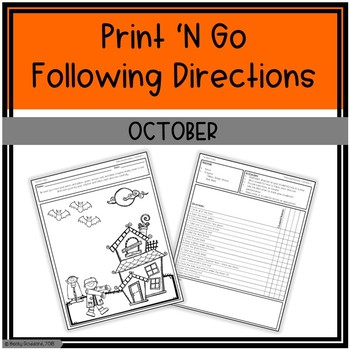 October Print 'N Go Following Directions Packet