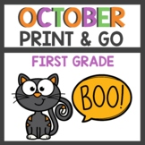 October Print and Go Activities First Grade