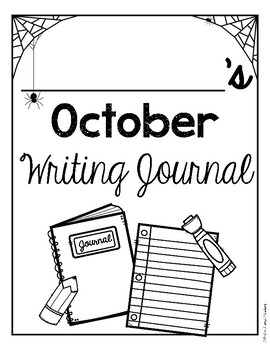 October Print and Go Writing Journal (English and Spanish)