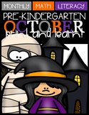 October Print and Learn (Halloween)