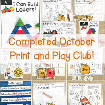 October Print and Play Club
