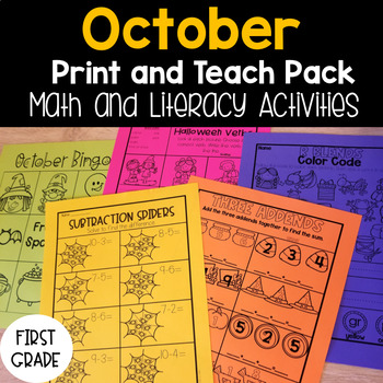 October Print and Teach Pack