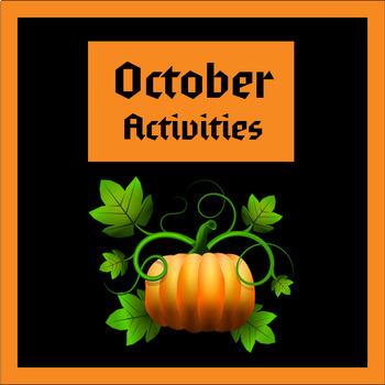 October Printable Activities