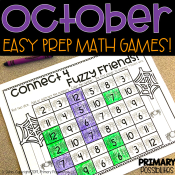 October Printable Math Games
