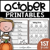 October Printables - Math and Literacy Packet for First Grade