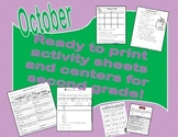 October Printables for Grade 2