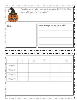 October Problem Solving (word problems)