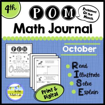 Math Problem-Solving - 4th Grade October POM Pack