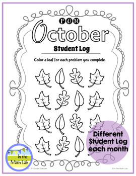 October Problems of the Month (POM) Math Pack - 5th Grade