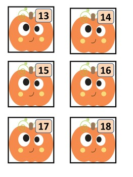 October Pumpkin Calendar Cards