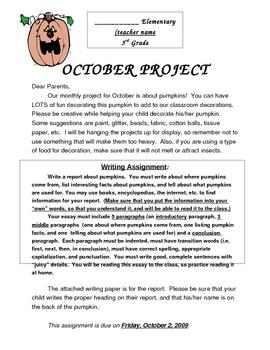October Pumpkin Home Project