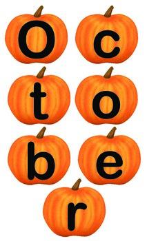 October Pumpkin Letters