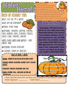 October Pumpkin Newsletter