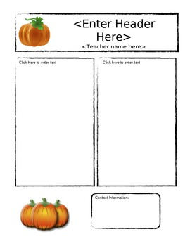 October Pumpkin Newsletter Template