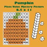 October Pumpkin Place Value Math Mystery Picture - 8.5x11