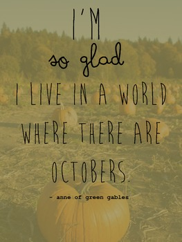 October Pumpkin Quote Poster