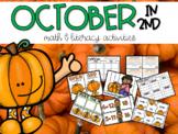 October (Pumpkins) Math and Literacy Center Activities for 2nd Grade
