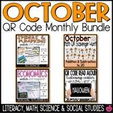 October QR Codes Bundle - Reading, Math, & Science