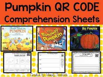 October Qr code with Comprehension Sheets Pumpkin Edition